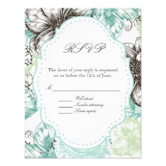 El gráfico floral moderno del vintage florece negr comunicados personalizados