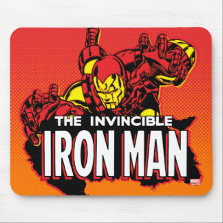 El gráfico invencible del hombre del hierro mouse pads