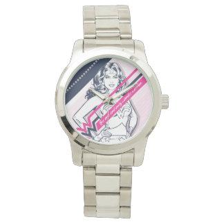 El gráfico retro de Woman uno y de la única Relojes De Mano