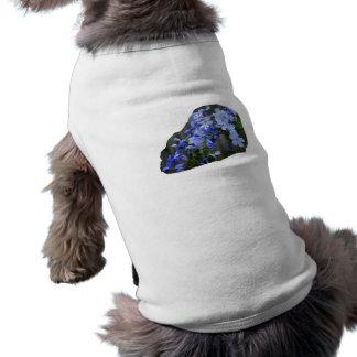 El grafito azul florece la foto de la cascada playera sin mangas para perro
