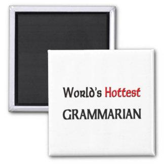 El gramático más caliente de los mundos imán cuadrado
