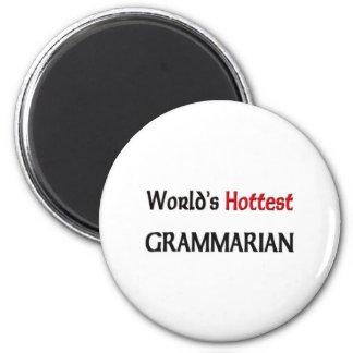 El gramático más caliente de los mundos imán redondo 5 cm