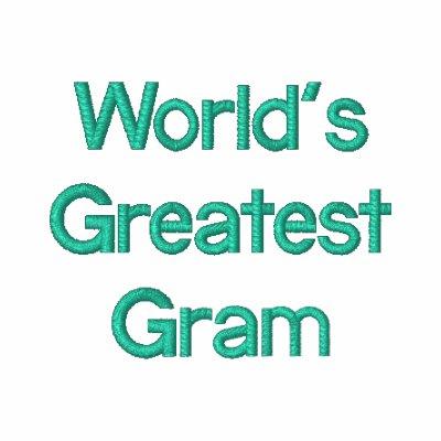 El gramo más grande del mundo encapuchada bordada