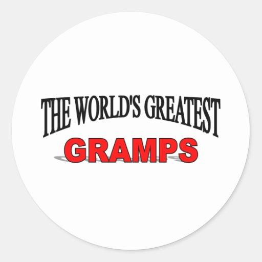 El Gramps más grande del mundo Etiqueta Redonda