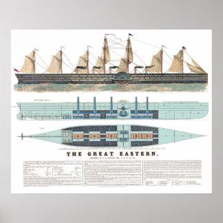 El gran 1858 del este posters