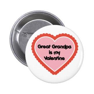 El gran abuelo es mi tarjeta del día de San Valent Pin Redondo 5 Cm