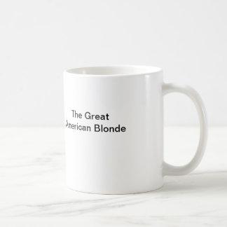 El gran Blonde americano Taza