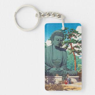 El gran Buda en el hanga de Kamakura Hasui Kawase Llavero Rectangular Acrílico A Doble Cara