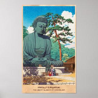El gran Buda en el hanga de Kamakura Hasui Kawase Poster