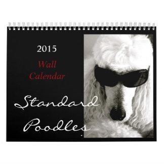 El gran calendario 2015 del caniche estándar