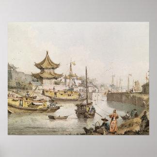 El Gran Canal, China, (w/c) Posters