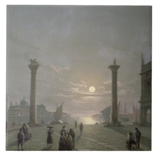 El Gran Canal de la plaza San Marco Tejas