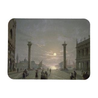 El Gran Canal de la plaza San Marco Imán Rectangular