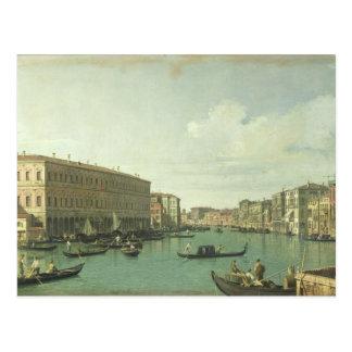 El Gran Canal del puente de Rialto Postales