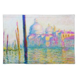 El Gran Canal en Venecia Claude Monet Manteles Individuales