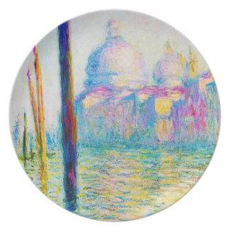 El Gran Canal en Venecia Claude Monet Platos Para Fiestas