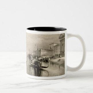 El Gran Canal, Venecia, grabada por Guillermo Taza De Dos Tonos