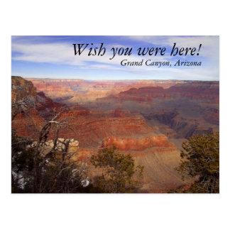 ¡El Gran Cañón, desea que usted estuviera aquí! Postal