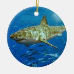 El gran Carcharias del Carcharodon del tiburón bla Adorno De Navidad