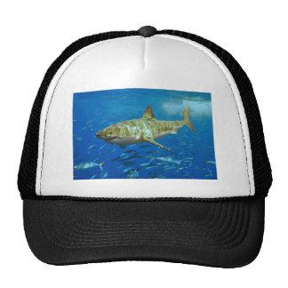 El gran Carcharias del Carcharodon del tiburón bla Gorros Bordados
