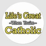 El gran… católico de la vida etiqueta redonda