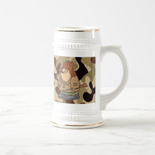 El gran cazador Camo Stein… Tazas De Café
