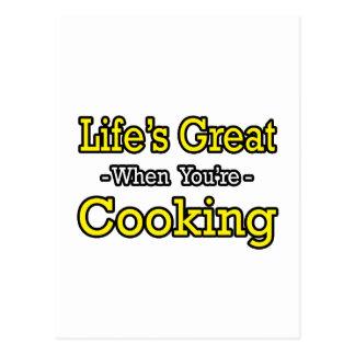 El gran… cocinar de la vida tarjeta postal