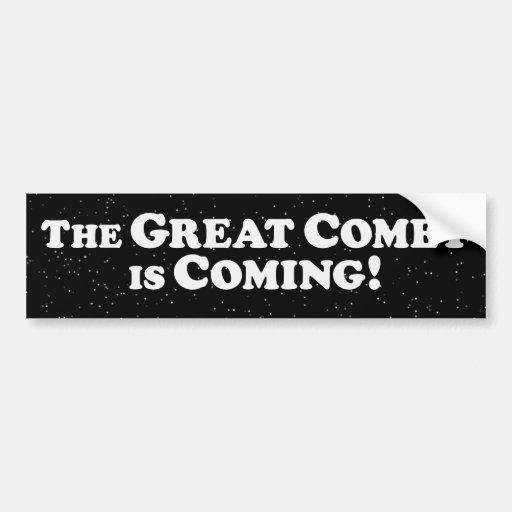 El gran cometa está viniendo - oscuridad pegatina de parachoque