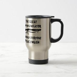 El gran comunicador de la escopeta cada uno habla  tazas de café