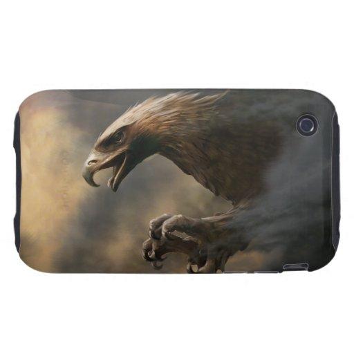 El gran concepto de Eagles Tough iPhone 3 Fundas