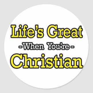 El gran… cristiano de la vida etiqueta redonda