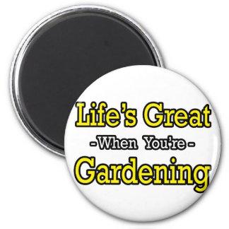 El gran… cultivar un huerto de la vida imán redondo 5 cm