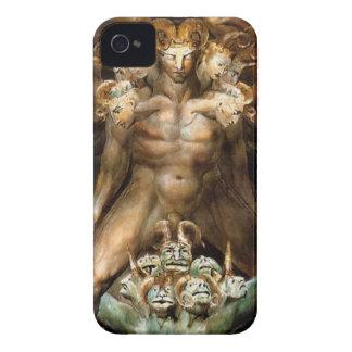 El gran dragón rojo y la bestia del mar iPhone 4 cárcasas
