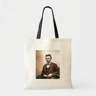 El gran Emancipator - Abe Lincoln 1865 Bolsa Lienzo