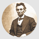 El gran Emancipator - Abe Lincoln (1865) Pegatinas Redondas