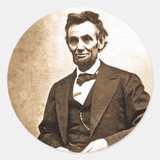 El gran Emancipator - Abe Lincoln (1865) Pegatina Redonda