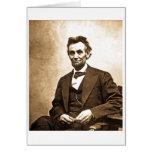 El gran Emancipator - Abe Lincoln (1865) Tarjetón
