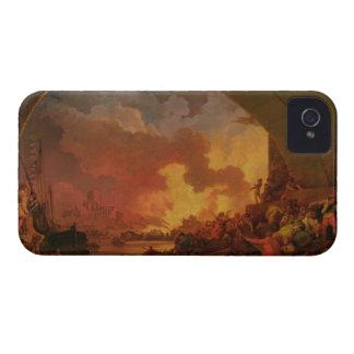 El gran fuego de Londres, c.1797 (aceite en lona) iPhone 4 Case-Mate Protectores