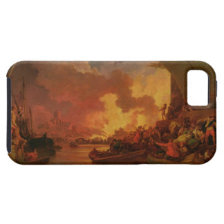 El gran fuego de Londres, c.1797 (aceite en lona) Funda Para iPhone 5 Tough