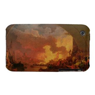 El gran fuego de Londres, c.1797 (aceite en lona) iPhone 3 Case-Mate Coberturas