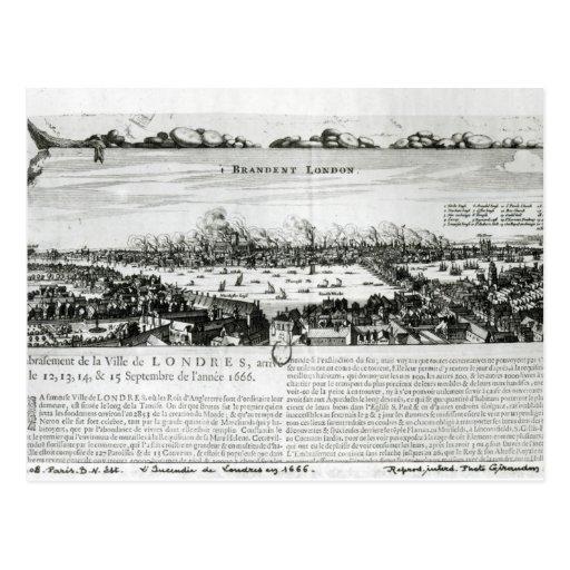 El gran fuego de Londres en 1666 Postales