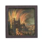 El gran fuego de Londres (septiembre de 1666) con  Caja De Recuerdo De Calidad