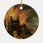 El gran fuego de Londres (septiembre de 1666) con  Adornos