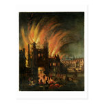 El gran fuego de Londres (septiembre de 1666) con  Postal