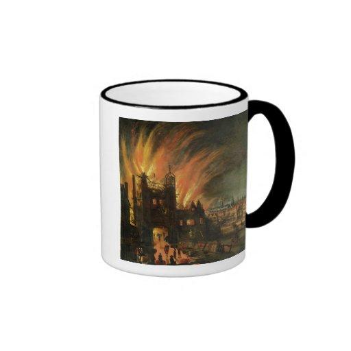 El gran fuego de Londres (septiembre de 1666) con  Tazas De Café