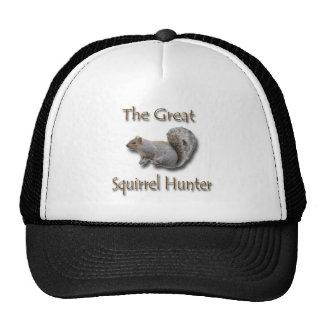 El gran gris del cazador de la ardilla gorras de camionero