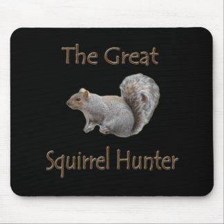 El gran gris del cazador de la ardilla tapetes de ratones