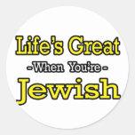 El gran… judío de la vida etiqueta