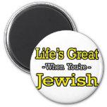 El gran… judío de la vida imán de frigorífico