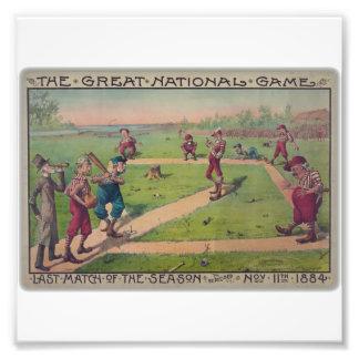 El gran juego nacional. Partido pasado de la estac Arte Con Fotos